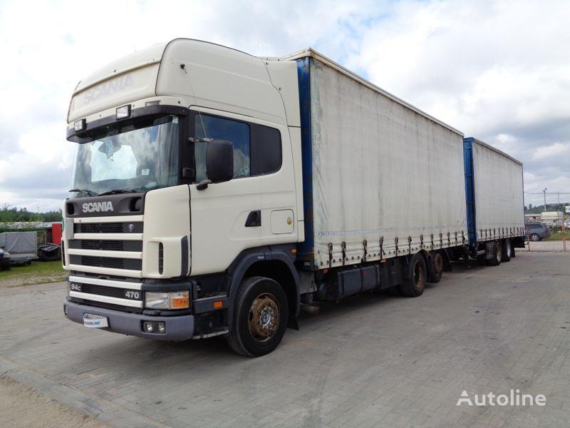 грузовик штора SCANIA R124 470 + прицеп штора